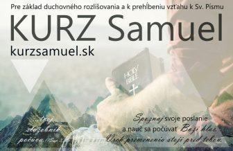 Pozvánka na Kurz Samuel v Nitrianskej diecéze