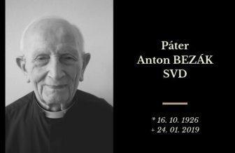 Misionár Anton Bezák odišiel do nebeskej vlasti