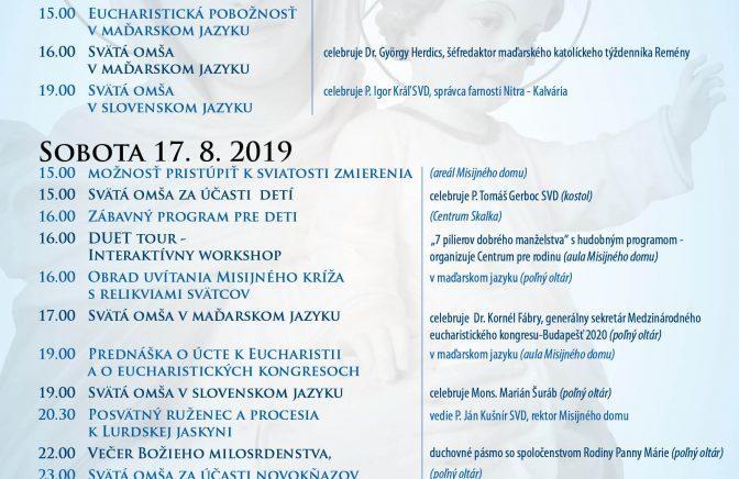 Púť Nitra – Kalvária 2019